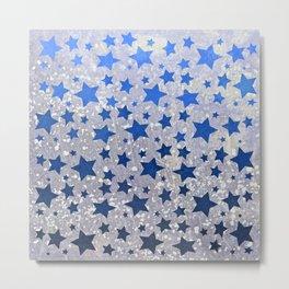 All Stars...(in blue) Metal Print