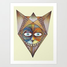 Parted and Feathered Art Print