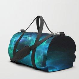 Aqua Blue and Green Circles 1 Duffle Bag