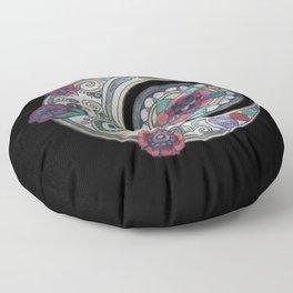 Spiral floral moon Floor Pillow