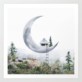 Moon House Art Print