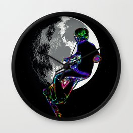 Moonlit Scooter Champ Wall Clock
