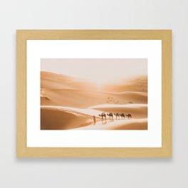Saharan Sunrise Framed Art Print