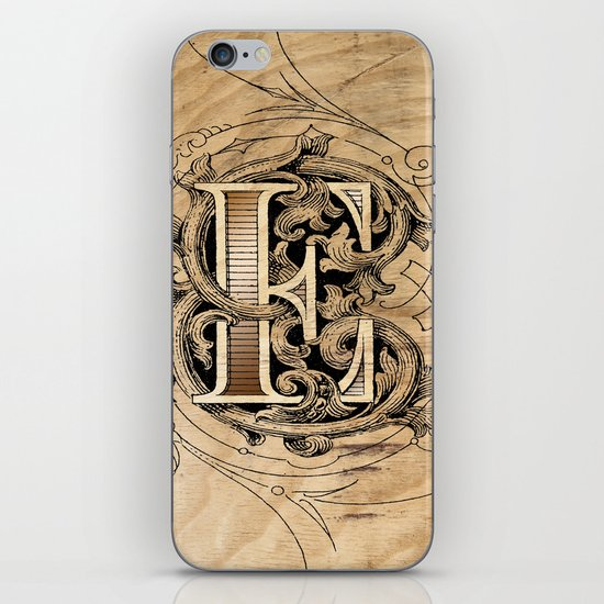 monogram e iPhone & iPod Skin