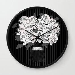 Bouquet of Skull Roses Wall Clock