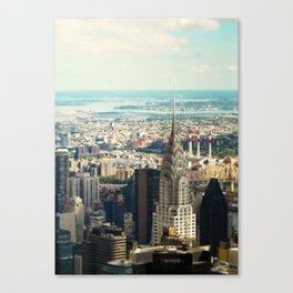 Vintage Colors. Chrysler Building, New York. Canvas Print