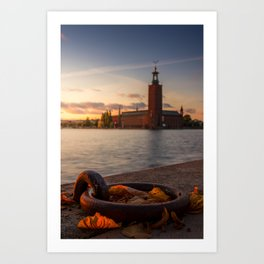 Stockholm Autumn Art Print