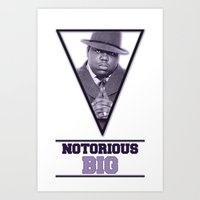 notorious big Art Prints featuring *Notorious BiG* by Gold Blood