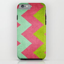 Cocktails with Lilly - Pink, Aqua, Green Chevron iPhone Case