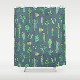 Cactus Pattern II Shower Curtain
