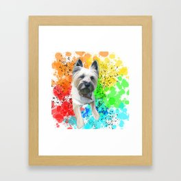Rainbow Cairn Terrier Toto Framed Art Print