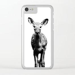 Deer I BW Clear iPhone Case