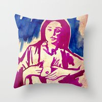 georgia Throw Pillows featuring Georgia by Lord Egon Will
