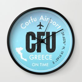 CFU Corfu airport Wall Clock