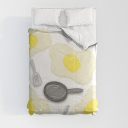 Fried Egg and the Frying Pan Comforters