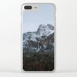 Snow in Yosemite Valley Clear iPhone Case