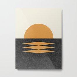 Sunset Geometric Midcentury style Metal Print
