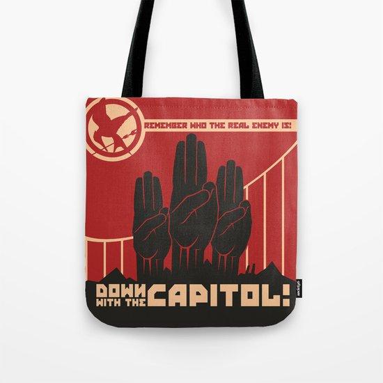 Down With The Capitol - Propaganda Tote Bag