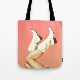 These Boots - Living Coral Tote Bag