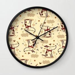 EMOTIONAL DOGGY Wall Clock
