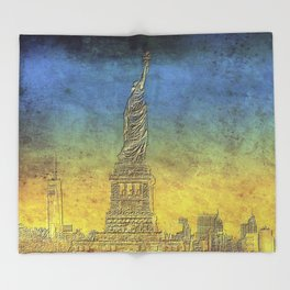 Lady Liberty #4 Throw Blanket