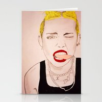 miley cyrus Stationery Cards featuring Miley Cyrus  by kelsey kolokowski