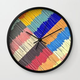 Cool Colors Collage Wall Clock