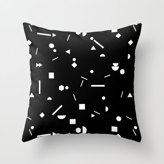 My Favorite Pattern 3 black Throw Pillow by Mareike Bohmer Society6