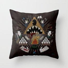 The decline Throw Pillow