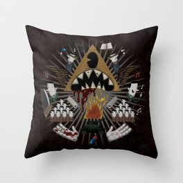 The decline Throw Pillow