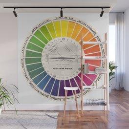 Vintage Color Wheel Art Teaching Tool Rainbow Mood Chart Wall Mural