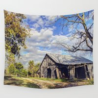 kentucky Wall Tapestries featuring Kentucky Barn by JMcCool