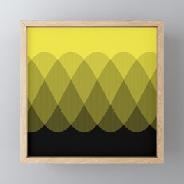 Yellow Ombre Signal Framed Mini Art Print
