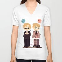 dmmd V-neck T-shirts featuring DMMD- weerus and toreep by Mimiblargh