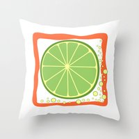 coasters Throw Pillows featuring LIME by Tanya Pligina