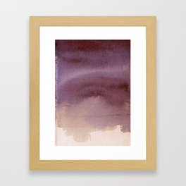 Rosy Haze abstract painting Framed Art Print