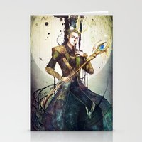 loki Stationery Cards featuring Loki by Mony