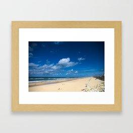 Lacanau Beach Framed Art Print
