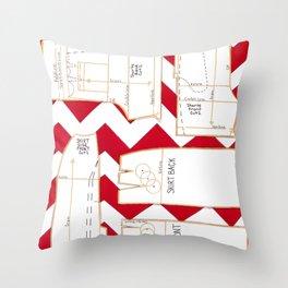 Seaside Stripes Slopers Throw Pillow