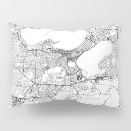 Madison White Map Pillow Sham