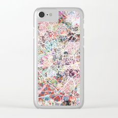 Montpellier map Clear iPhone Case