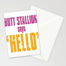 Butt Stallion says Hello Stationery Cards