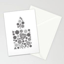 Snowflake candle Stationery Cards
