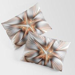 Elegance of a Flower, modern Fractal Art Pillow Sham
