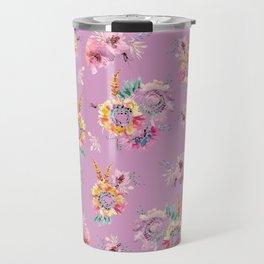 Meadow Flowers on Pastel Purple Travel Mug