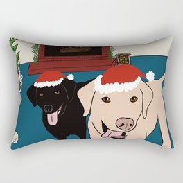 Labs Love Christmas! Rectangular Pillow