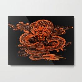 Epic Dragon Orange Metal Print