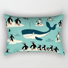 Whales and penguins Rectangular Pillow
