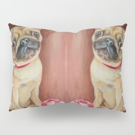 Pugs with the juggling ball Cute pug dog painting Funny pet portrait Pillow Sham