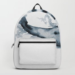 Watercolor Whale #2 - Blue Backpack